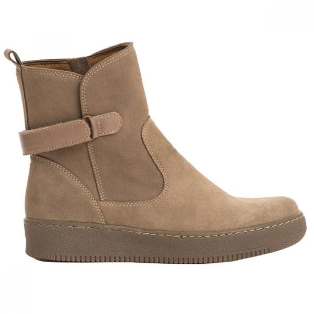 Νέο -37% Γυναικεία casual Μποτάκια Ragazza 0257 Leather Castori Pouro Γυναικεία  Παπούτσια 02fa81fda34