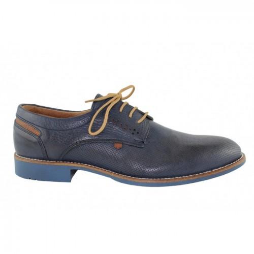 Ανδρικά Δετά Casual Παπούτσια Antonio 14 Leather Blue Ανδρικά Παπούτσια