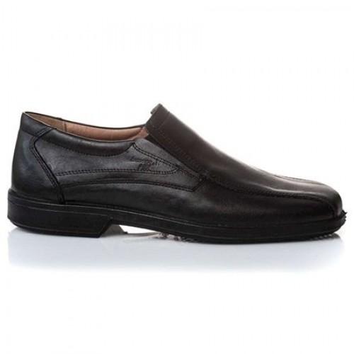 Ανδρικά Μοκασίνια Casual BOXER 10052 Leather Black