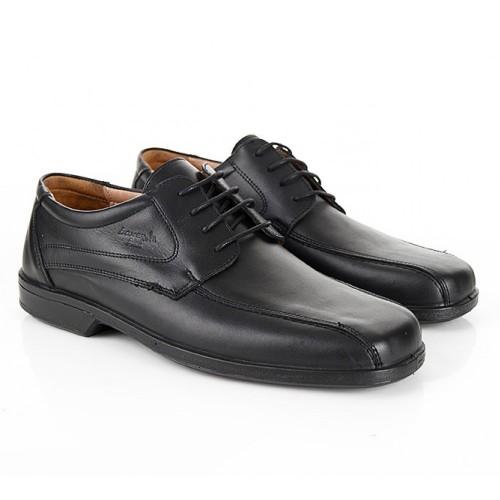 BOXER 10055 Leather Black Ανδρικά Παπούτσια
