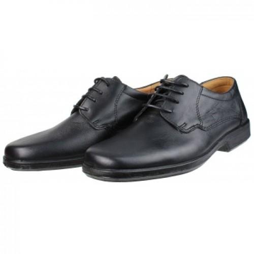 BOXER 10070 Leather Black Ανδρικά Παπούτσια