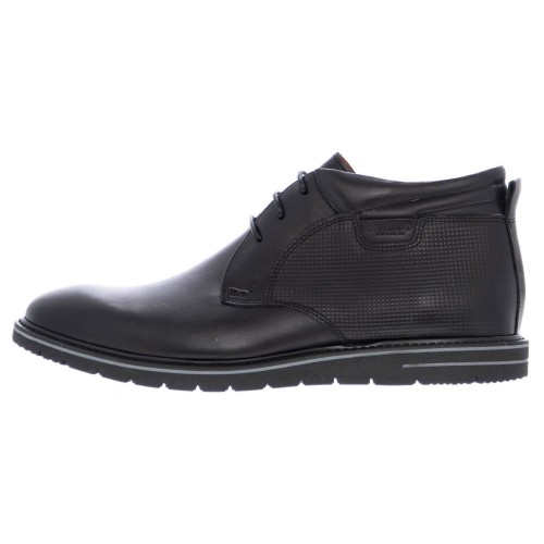 Ανδρικά Δετά Casual Μποτάκια Damiani 698 Leather Black Νέες Παραλαβές 7e8c7eb6e24