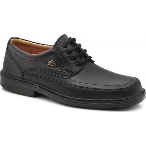 BOXER 10068 Leather Black Ανδρικά Παπούτσια