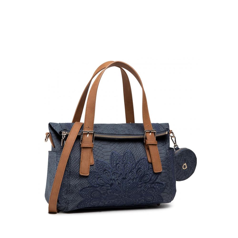 Γυναικεία Casual Τσάντα Χειρός Desigual 21SAXPCZ Eco Leather Blue