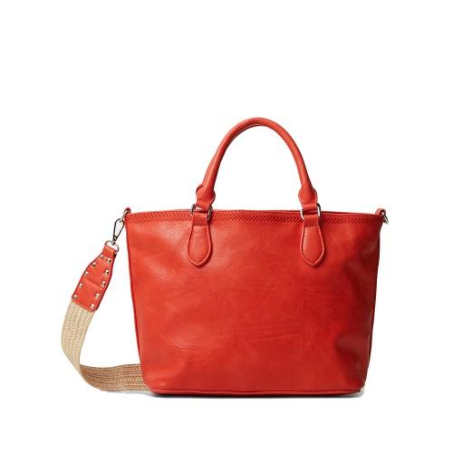 Γυναικεία Tote Bag Desigual 21SAXP88 Eco Leather Red