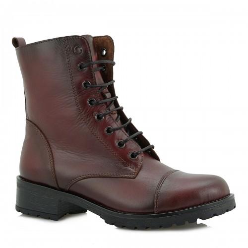 Γυναικεία Casual Αρβυλάκια Μποτάκια Ragazza 0266 Leather Bordeux