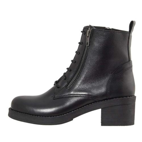 Γυναικεία Δετά Μποτάκια Ragazza 0631 Leather Black