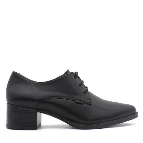 Γυναικεία Δετά Oxford Ragazza 0161 Leather Black