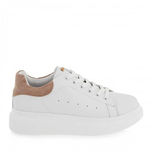 Γυναικεία Sneakers Renato Garini RG 2101 Eco Leather Suede White Pink