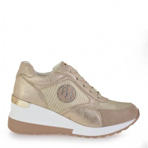Γυναικεία Sneakers Renato Garini EX2141 Eco Leather Gold