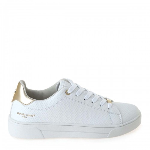 Γυναικεία Sneakers Renato Garini 20VW2003-3 Eco Leather White Snake/Lt Gold