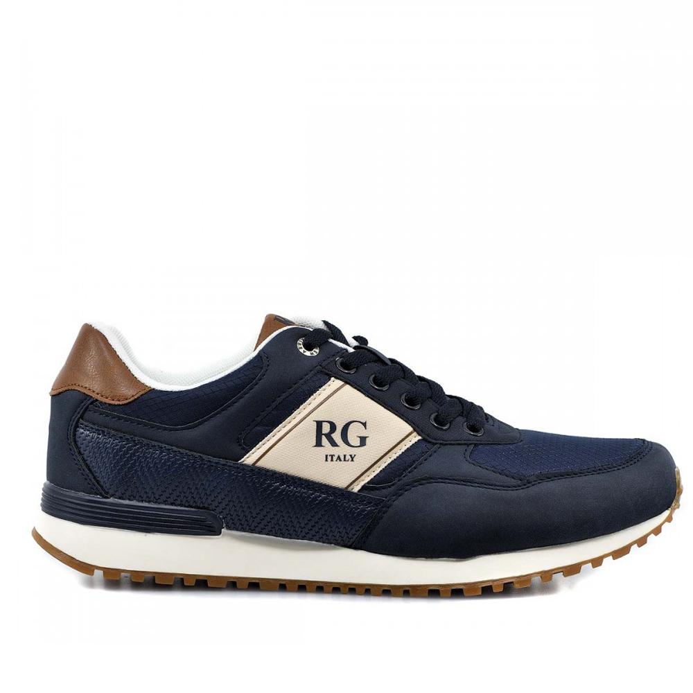 Ανδρικά Δετά Sneakers Renato Garini HW-PC005 Eco Leather Textile Navy