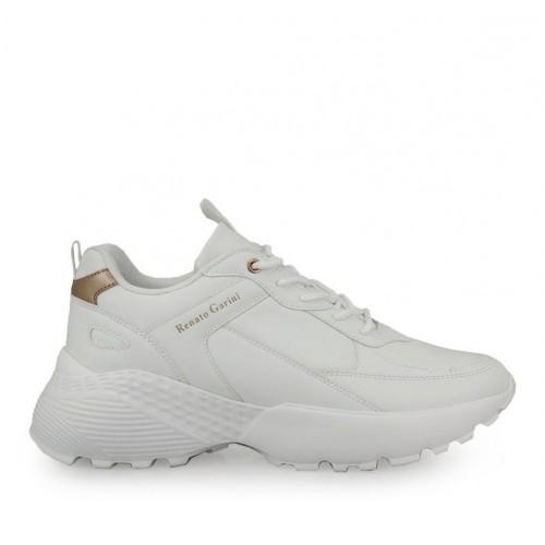 Γυναικεία Sneakers Renato Garini FW 9157 Eco Leather White Pink Gold
