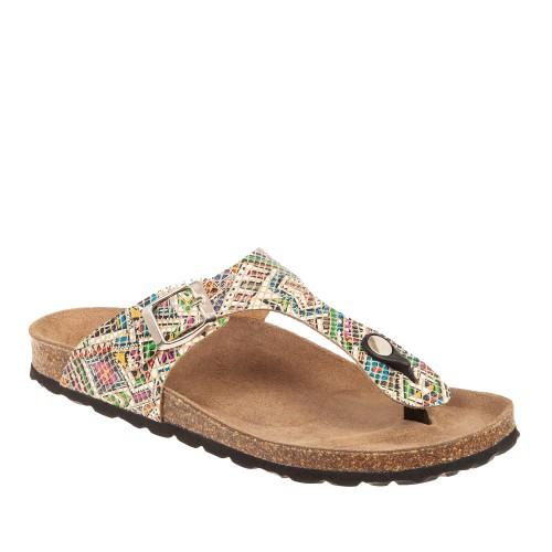 Γυναικείες Ανατομικές Παντόφλες Adam's Shoes 1-708-21003-27 Eco Leather Multi Gold