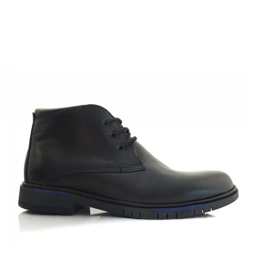 Ανδρικά Δετά Casual Μποτάκια Antonio 12 Leather Black Νέες Παραλαβές