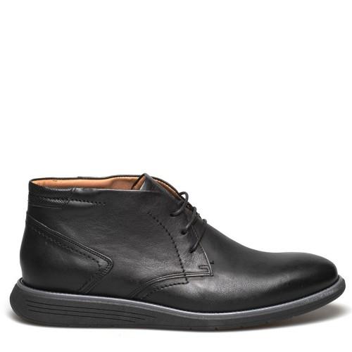Ανδρικά Δετά Casual Μποτάκια Damiani 1002 Leather Black