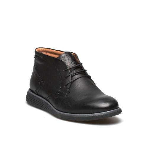 Ανδρικά Δετά Casual Μποτάκια Damiani 1002 Leather Black Νέες Παραλαβές