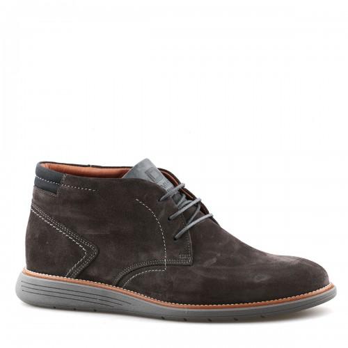 Ανδρικά Δετά Casual Μποτάκια Damiani 1003 Leather Suede Grey