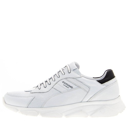 Ανδρικά Casual Sneakers Damiani 2400 Leather White Νέες Παραλαβές