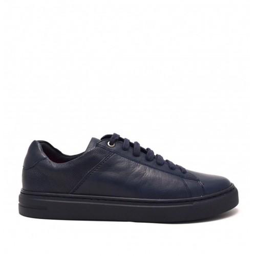 Ανδρικά Δετά Casual Sneakers Kricket 908 Leather Blue