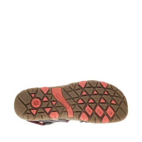 Γυναικεία Πέδιλα Merrell Sandspur Rose Convert J002686 Leather Espresso Coral