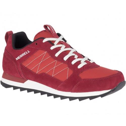Ανδρικά Δετά Casual Sneakers Merrell J16703 Alpine Leather Castori Nylon Upper Bossanova Rouge