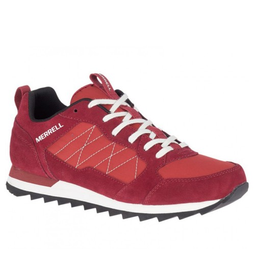 Ανδρικά Δετά Casual Sneakers Merrell J16703 Alpine Leather Castori Nylon Upper Bossanova Rouge