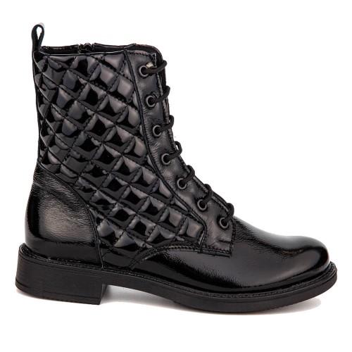 Γυναικεία Μποτάκια Capitone Ragazza 0257 Leather Loustrini Black