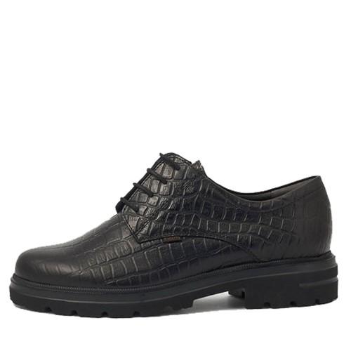Γυναικεία Δετά Oxford Ragazza 0159 Leather Croque Black