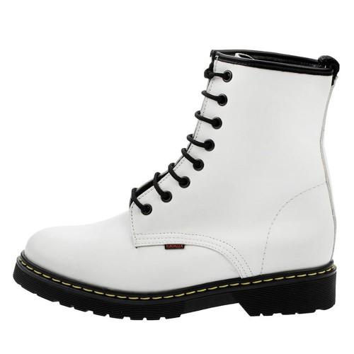 Γυναικεία Δετά Μποτάκια Ragazza 0200 Leather White