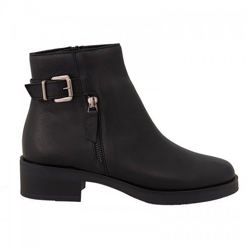 Γυναικεία Μποτάκια Ragazza 0164 Leather Black