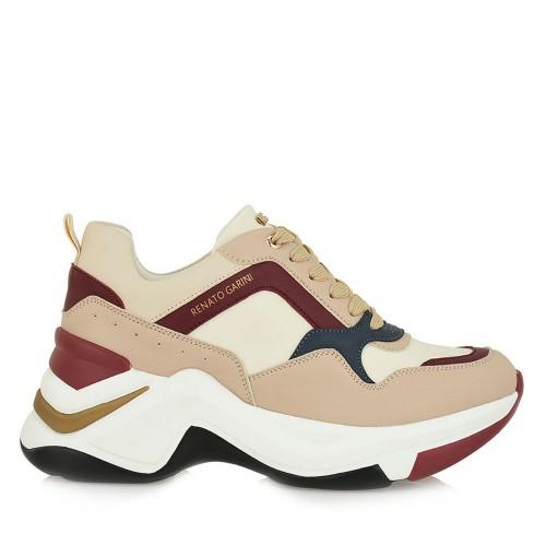 Γυναικεία Sneakers Renato Garini 106-21EX117 N119R6173P7007 Eco Leather Nude Burgundy