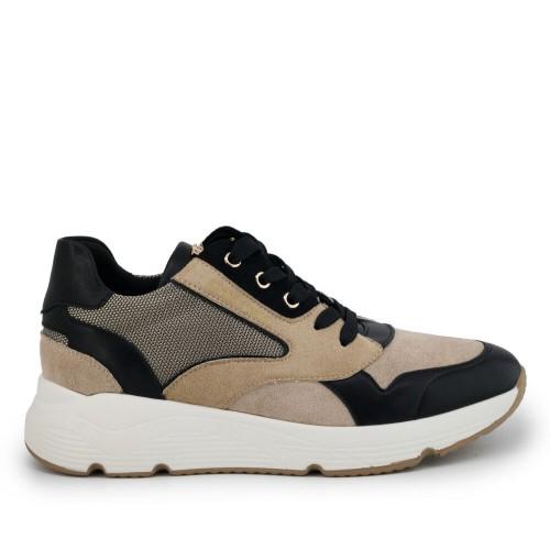 Γυναικεία Sneakers Renato Garini 199-21EX117 N119N117219M07 Eco Leather Suede Mesh Beige