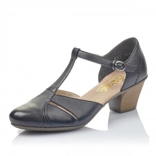 Γυναικεία Παπούτσια Με Μπαρέτα Rieker 45054-00 Leather Black