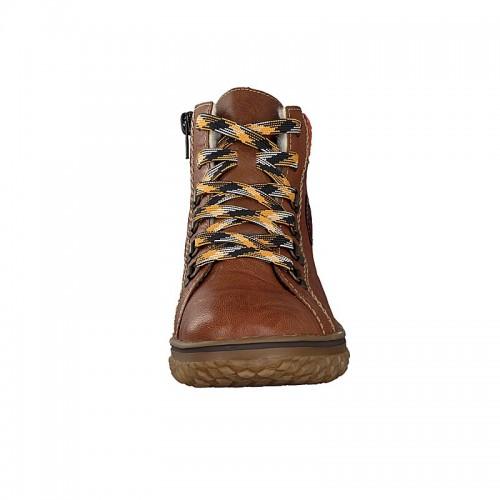 Γυναικεία Δετά Αδιάβροχα Μποτάκια Rieker L4211-22 Leather Brown