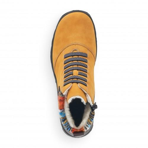Γυναικεία Αδιάβροχα Μποτάκια Rieker L7174-68 Eco Leather Yellow