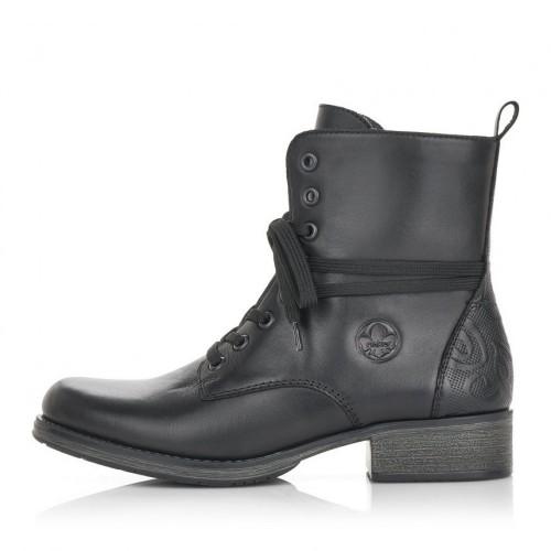 Γυναικεία Μποτάκια Rieker Y9710-00 Leather - Eco Leather Black