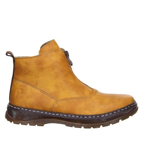 Γυναικεία Μποτάκια Με Φερμουάρ Rieker L2091-68 Eco Leather Yellow