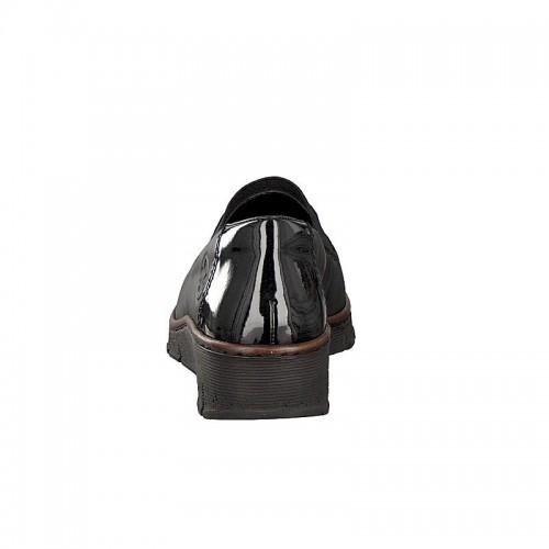 Γυναικεία Loafers Rieker 53762-01 Leather Black Νέες Παραλαβές
