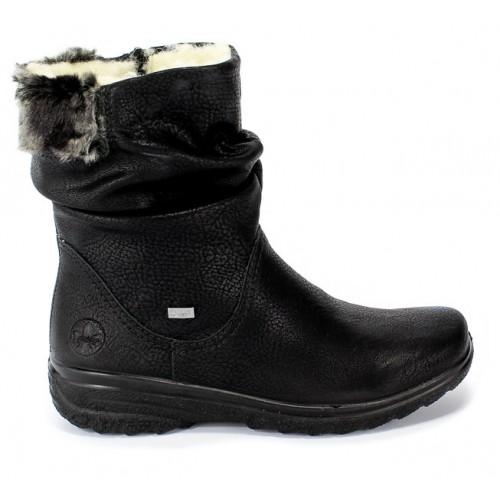 Γυναικεία Μποτάκια Rieker Z7088-00 Eco Leather Black