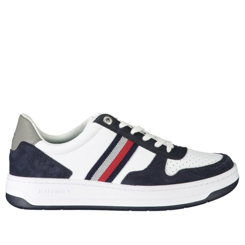 Ανδρικά Δετά Casual Sneakers Tommy Hilfiger FM0FM03433 YBR Leather Polyester White