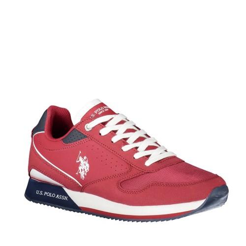 Ανδρικά Sneakers U.S. Polo Assn. Nobil183 Eco Suede Eco Leather Red