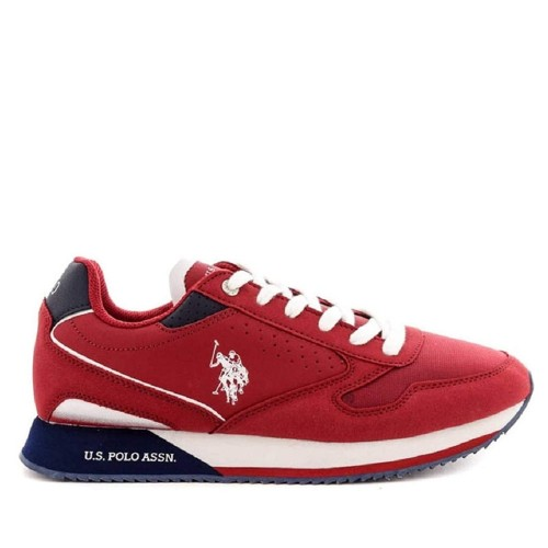 Ανδρικά Sneakers U.S. Polo Assn. Nobil183 Eco Suede Eco Leather Red