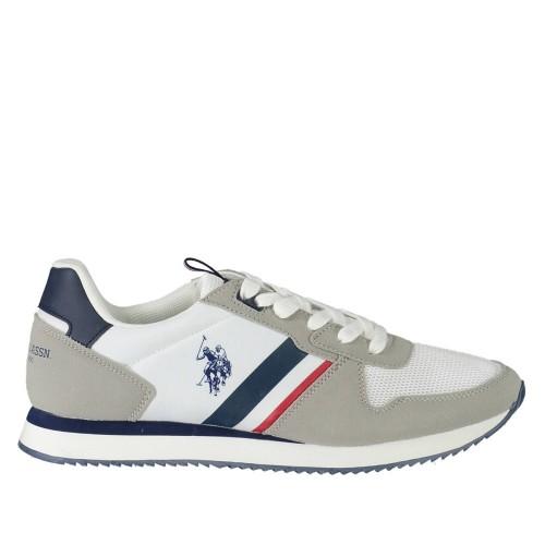Ανδρικά Sneakers U.S. Polo Assn. Nobil115 Nylon Eco Suede Dark White