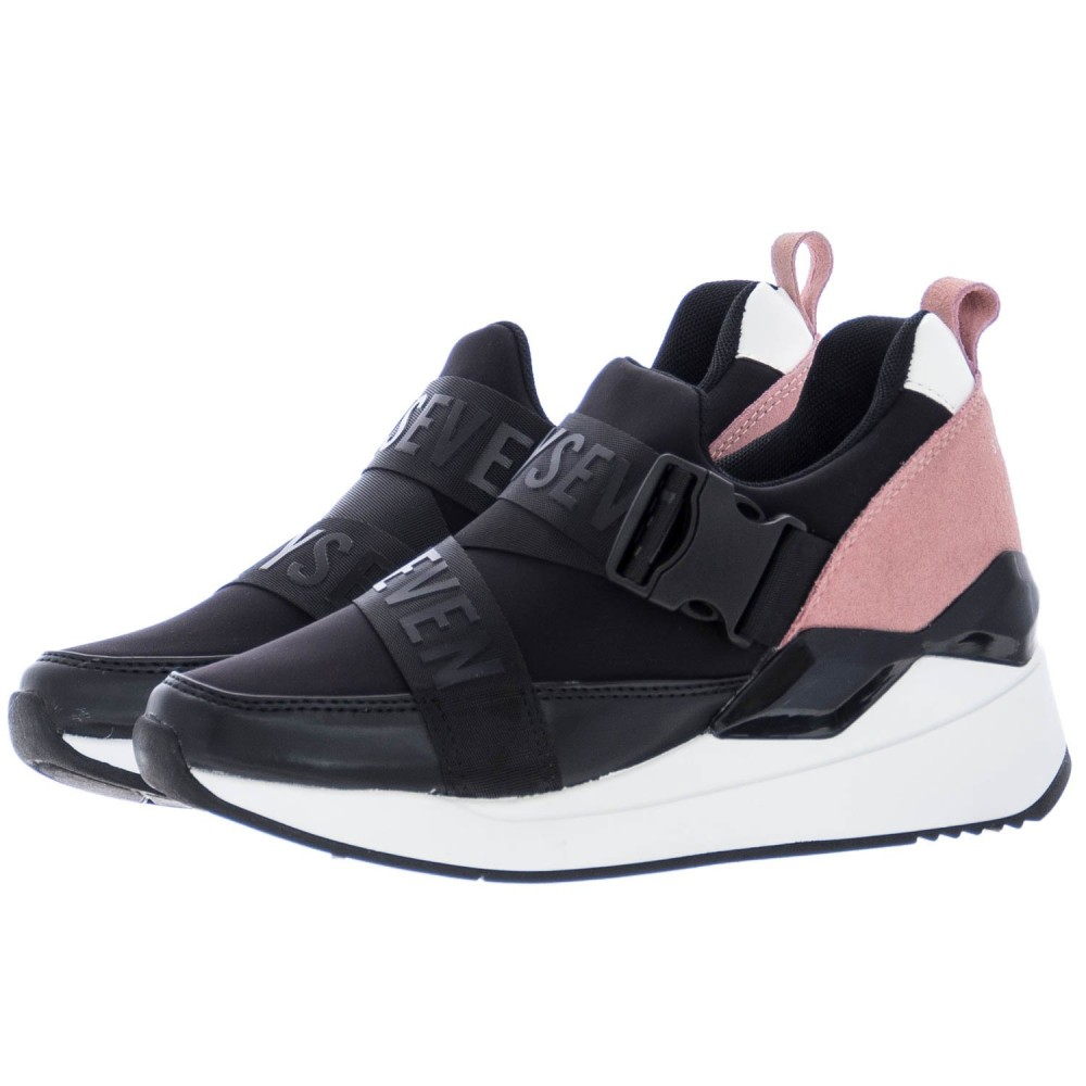 a87b230782c ... Γυναικεία Casual Παπούτσια Sixtyseven 79874 Suede Textile Black Pink Γυναικεία  Παπούτσια