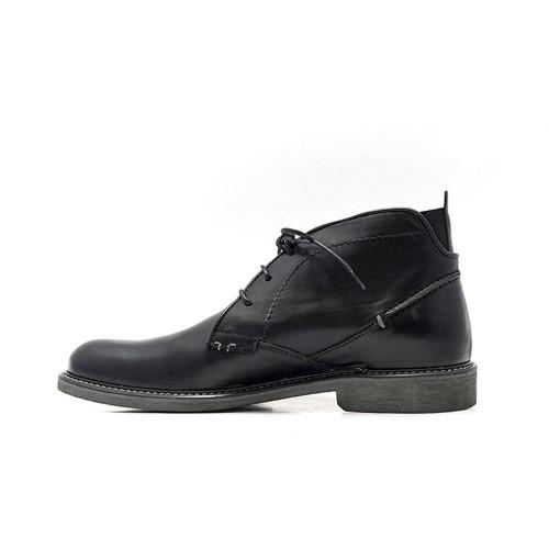 Damiani 400 Leather Black Ανδρικά Παπούτσια fce441ddd26