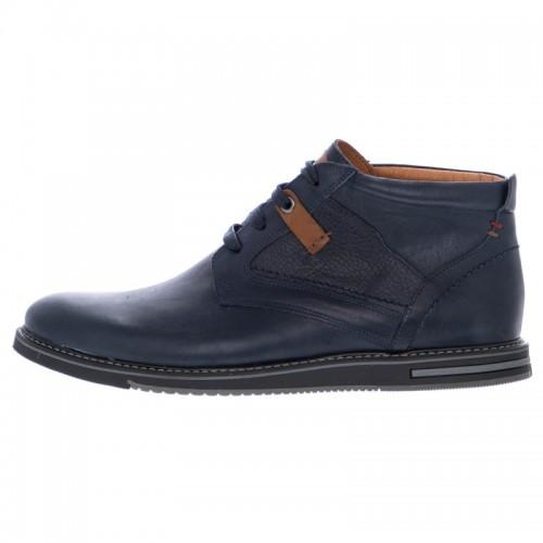 Ανδρικά Δετά Casual Μποτάκια Damiani 560 Leather Blue Νέες Παραλαβές e45f166a8a6