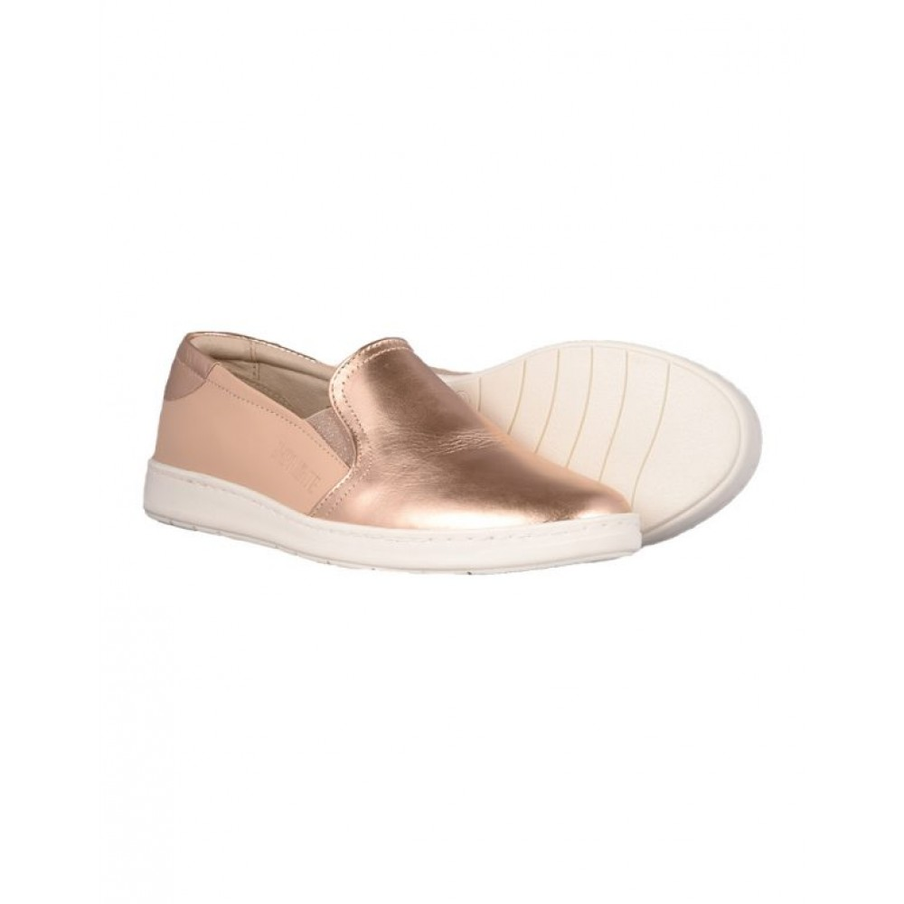 523bedbe5e9 ... Γυναικεία Loafers Impronte IL 181573 Leather Nude Pink Gold Γυναικεία  Παπούτσια