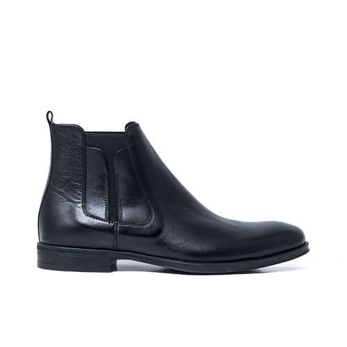 Ανδρικά Casual Μποτάκια Damiani 432 Leather Black Νέες Παραλαβές 29342b793c7