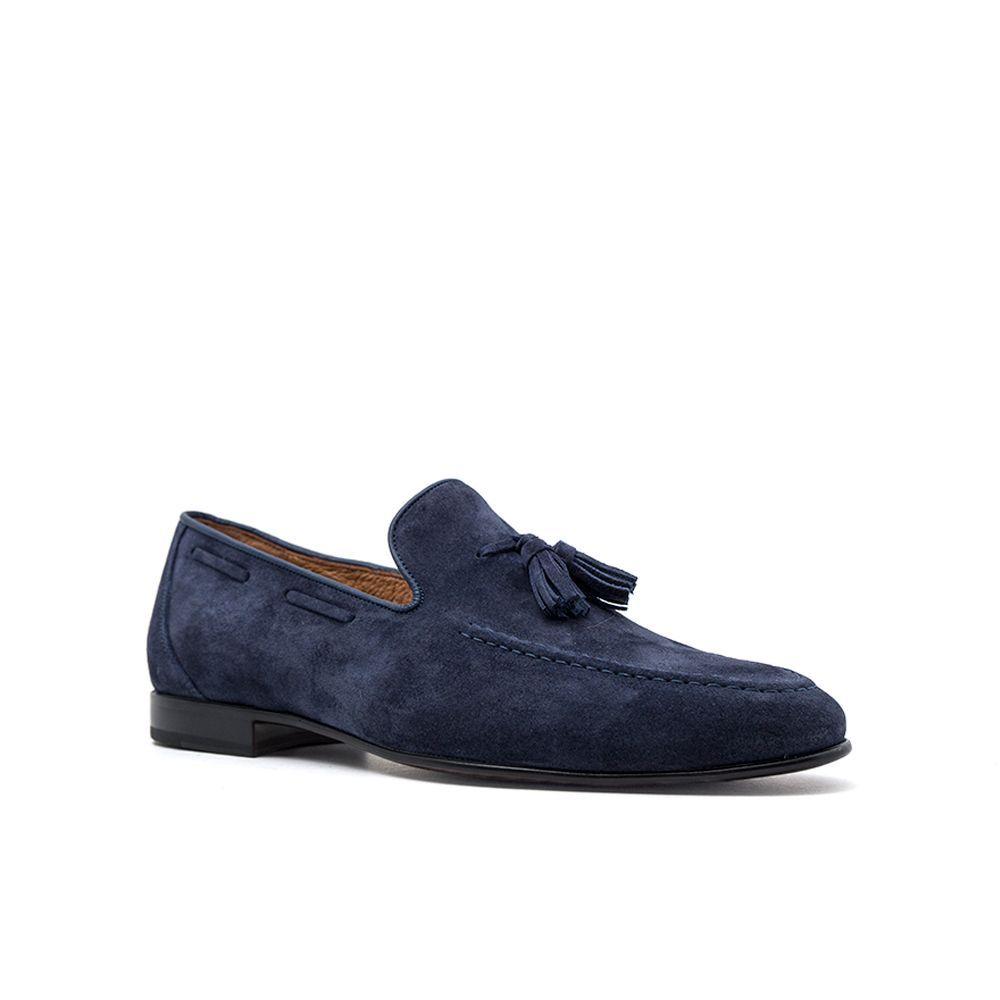 795b02ea840 ... Ανδρικά Μοκασίνια Loafers Damiani 590 Leather Castor Blue Ανδρικά  Παπούτσια ...